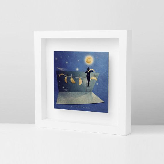 Moon, Astrology, Decor housewares, Wall decor, Frames, Modern Picture…