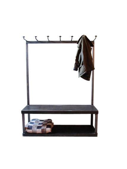 Coat Rack Bench Things Pinterest