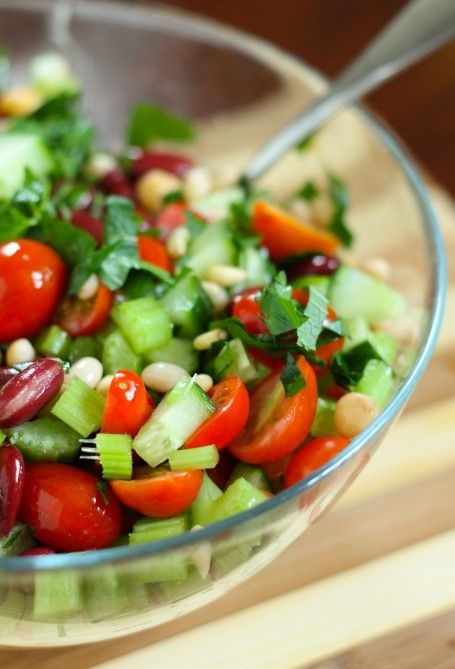Speedy Big-Batch Meal Prep: Middle Eastern 3-Bean Salad | Eat Spin Run ...