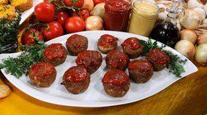 the chew | Recipe | Deen Bros' Speedy Mini Meat Loaves
