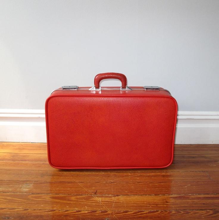 Vintage suitcase Red | Vintage Suitcases
