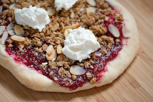 Raspberry Cobbler Pizza | Recipe