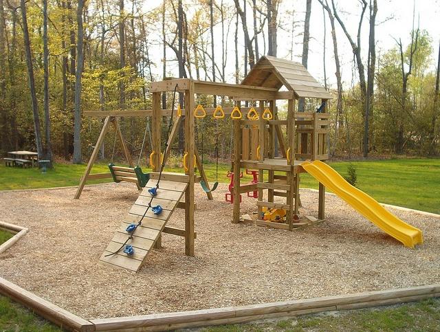 Backyard Playground Ideas : Backyard Playground Pinterest  Small Backyard Landscaping Ideas