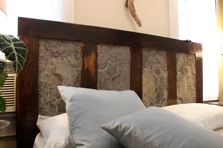 headboard made out of an old door love for the home
