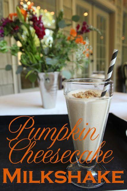 Pumpkin Cheesecake Milkshake from: Less-Than-Perfect Life of Bliss
