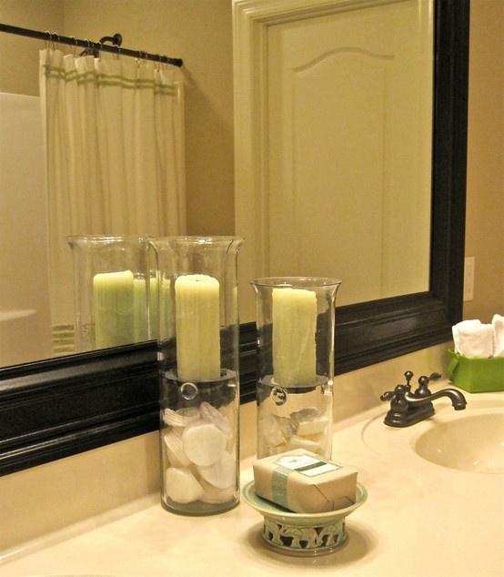 bathroom mirror frame tutorial diy oh yes i can pinterest