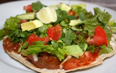 Chicken and Vegetable Tostadas | Food | Pinterest
