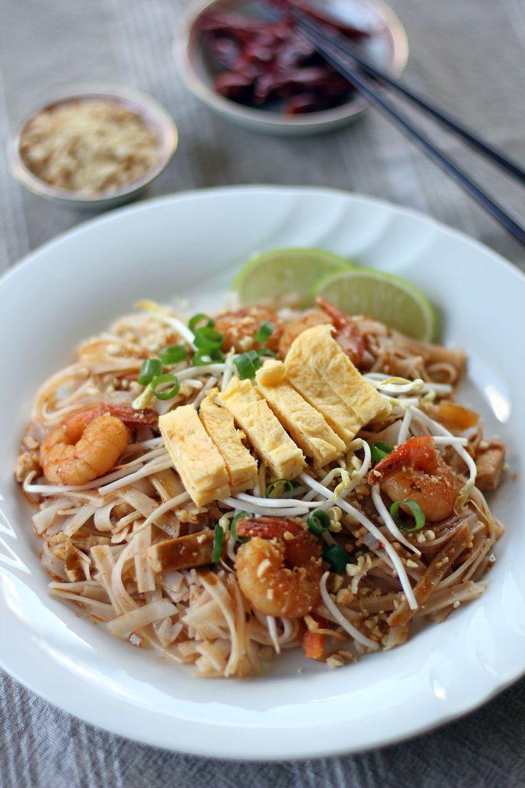 Shrimp Pad Thai On The Lighter Side Recipes — Dishmaps