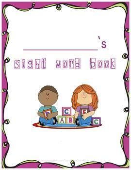 Sight  book ideas Pinterest school  Word word sight be Kindergarten   Book