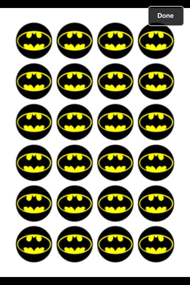 Batman Cupcake Toppers Birthday Ideas Pinterest