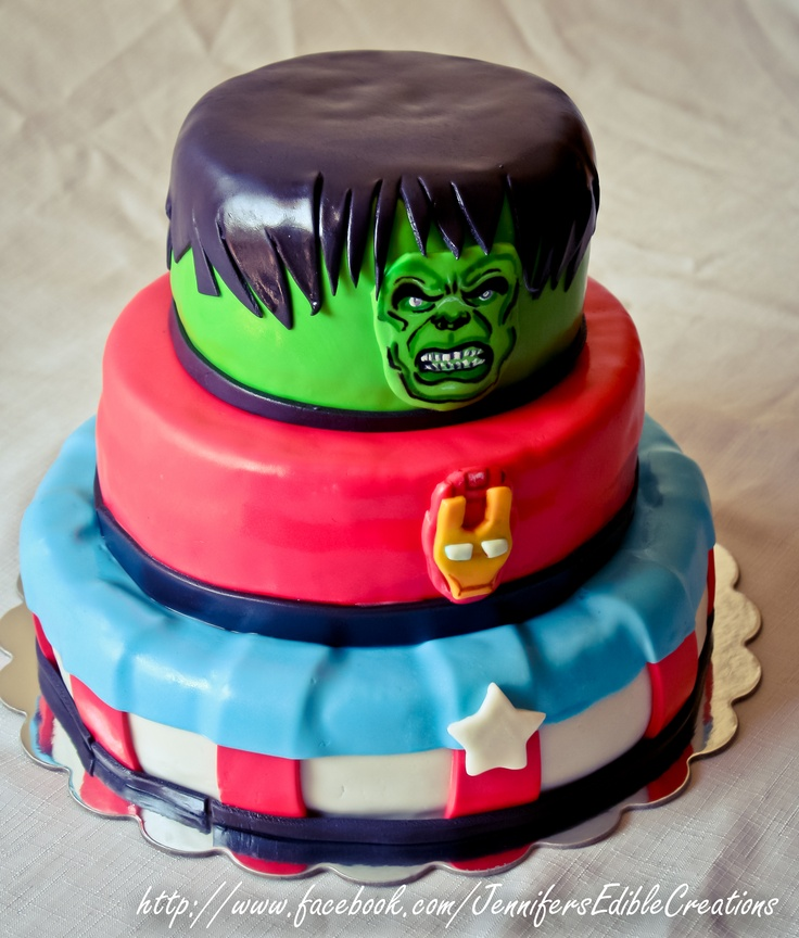 The Avengers Birthday Cake  Birthday Party Ideas  Pinterest