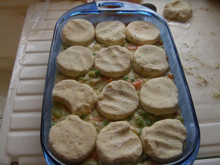 Chicken Pot Pie with Biscuit Topping (Gluten Free)