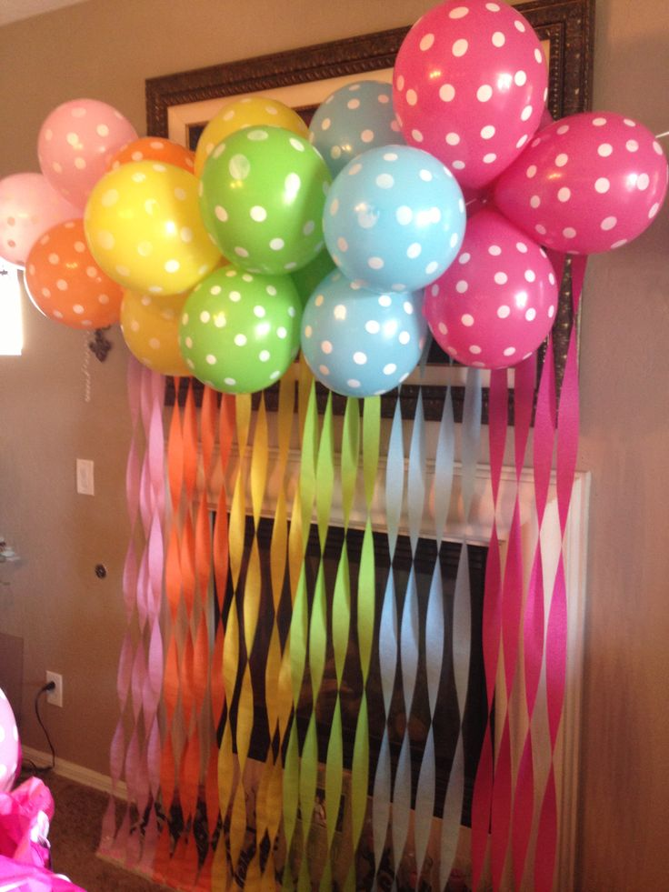 Balloons and streamers baby shower pinterest