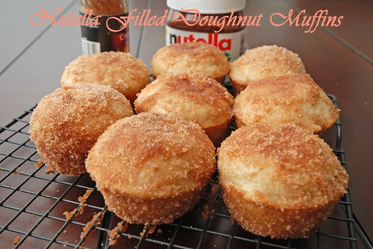 Nutella filled Doughnut Muffins | Food | Pinterest