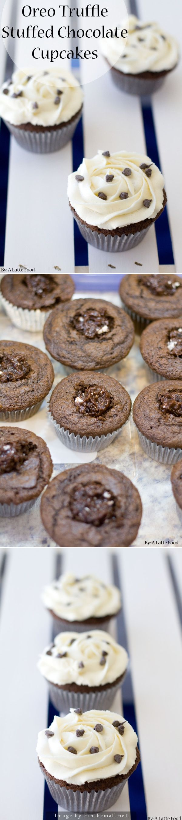 ... truffle stuffed chocolate cupcakes a latte food oreo truffle stuffed
