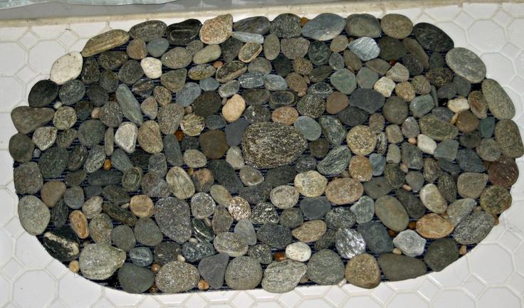River rock bath mat bathrooms pinterest for River stone bath mat