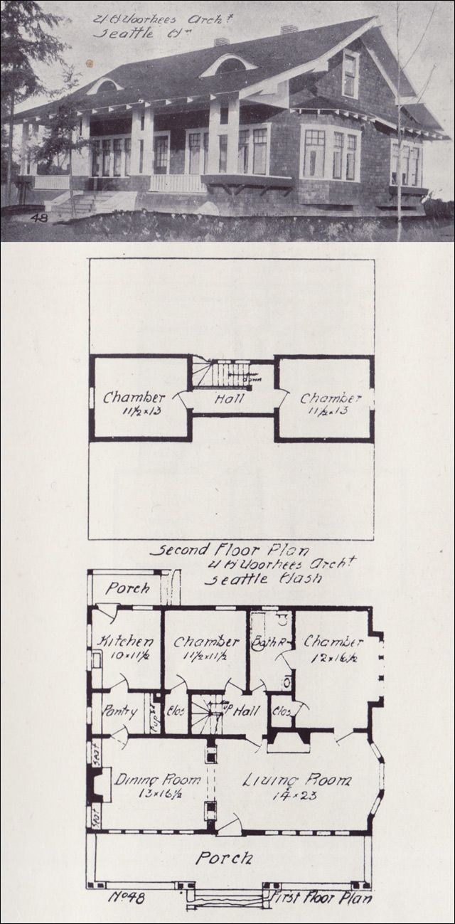 1908 western home builder house plans architecture for Western homes floor plans