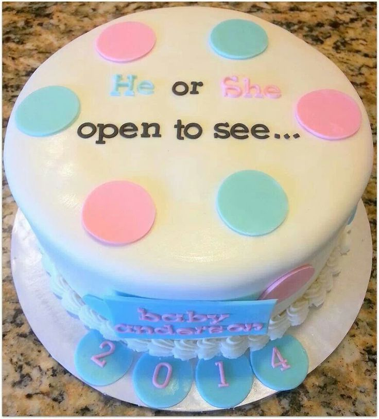 Cute baby reveal cake | Randomness | Pinterest