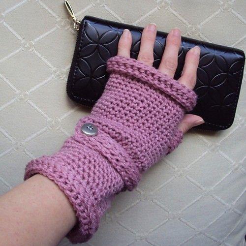 Crochet Pattern Gloves : CROCHET PATTERN Ladies Wristed Mittens or Fingerless ...