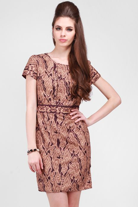 Teabag Casual Batik Dress | beautiful batik | Pinterest