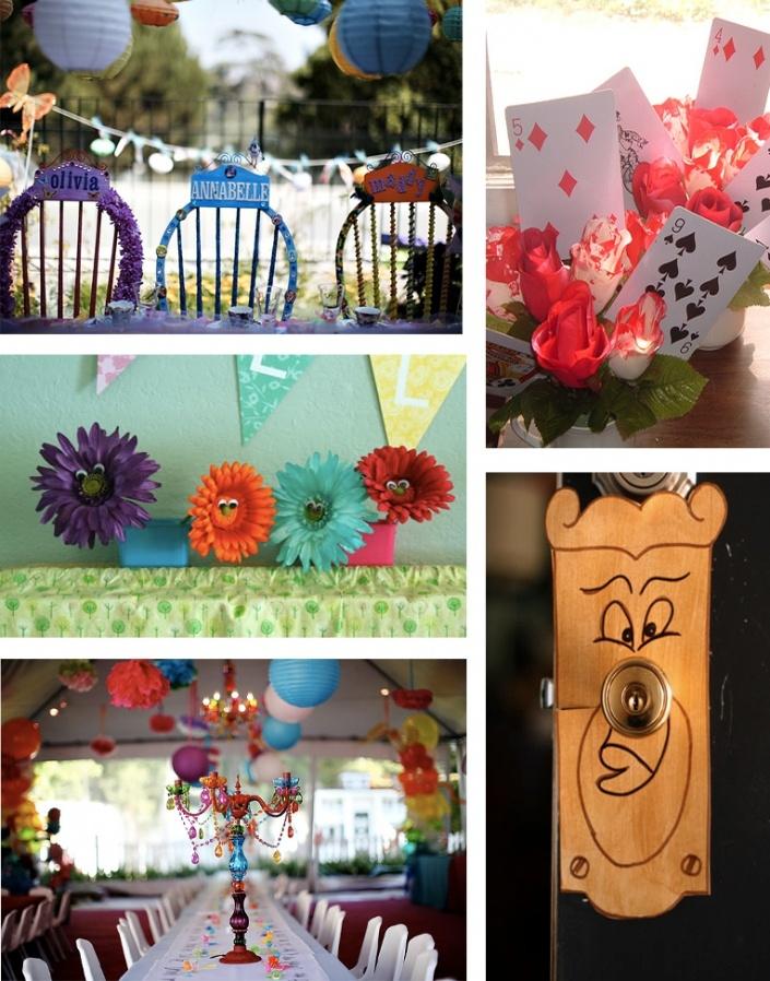 Alice in wonderland diy decor party decoration ideas for Alice in wonderland decoration