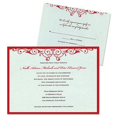 Serena 2-Layer Wedding Invitations by MyGatsby.com