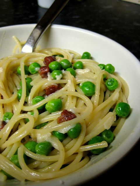 Pasta Carbonara With Peas Recipes — Dishmaps