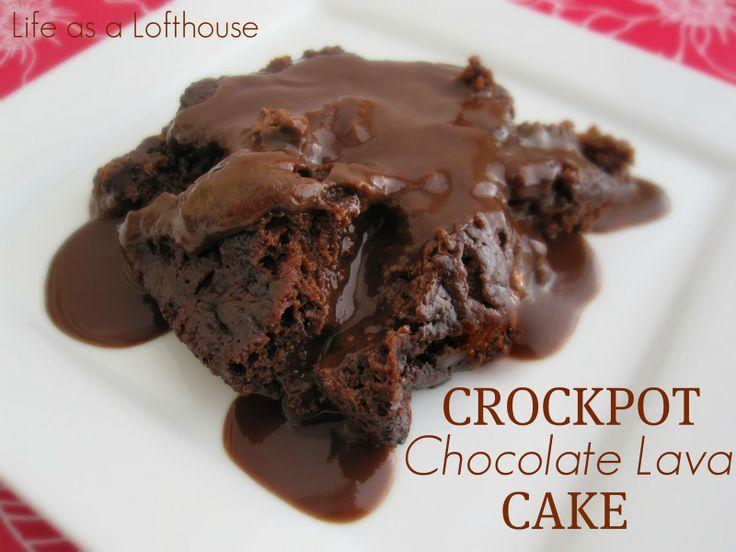 Life as a Lofthouse (Food Blog): Crockpot Chocolate Lava Cake
