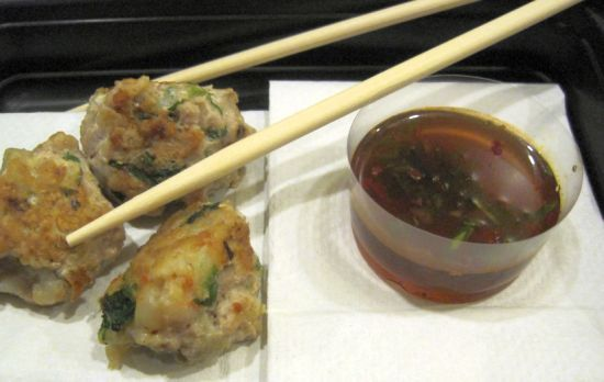 Shrimp and Pork Meatballs with Dipping Sauce This recipe is going high ...