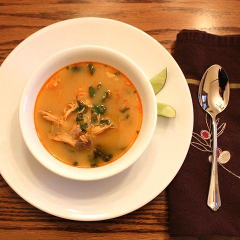 coconut chicken noodle soup ohn no khao swe thai coconut chicken soup ...
