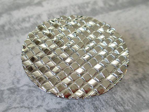 Knobs Drawer Knob Pulls Handles Round Silver Kitchen Cabinet Knobs