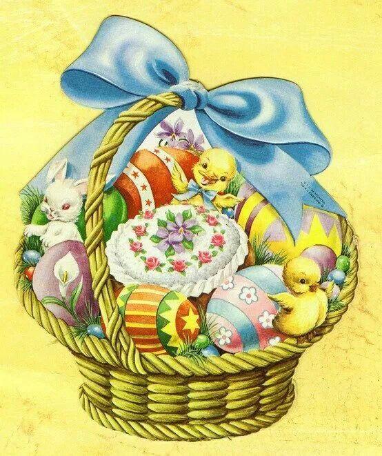 Vintage Easter basket | Spring | Pinterest