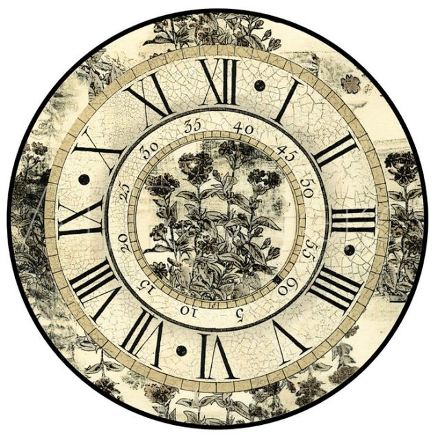 Pin Vintage Clock Faces Printable on Pinterest