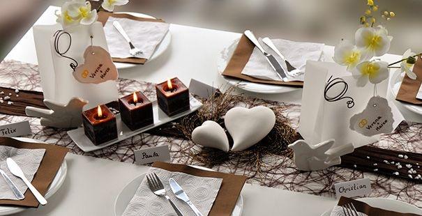 tischdeko braun wei wedding ideas and impressions pinterest. Black Bedroom Furniture Sets. Home Design Ideas