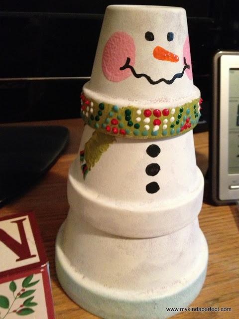 my kinda perfect: pinterest party! snowman craft
