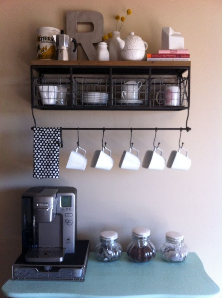 Coffee Bar Ideas For Your Kitchen For The Home Pinterest