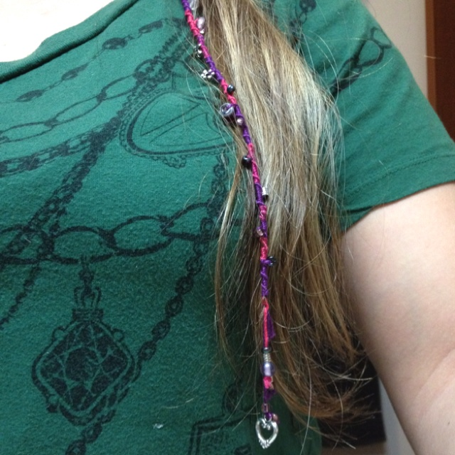 Hair Wrap With Embroidery Floss Amp Beads  Hair  Pinterest