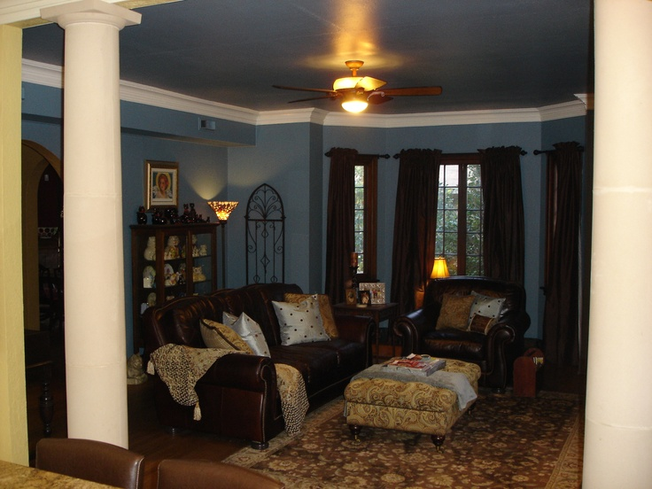 living room blue and brown brown livingrooms pinterest