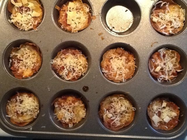 muffin pan potato gratins - cheddar cheese and bacon