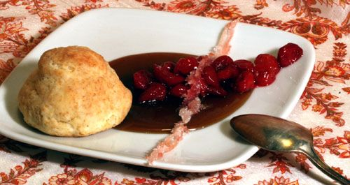 Almond Buttermilk Biscuits with Sour Cherry Compote, Butterscotch, and ...
