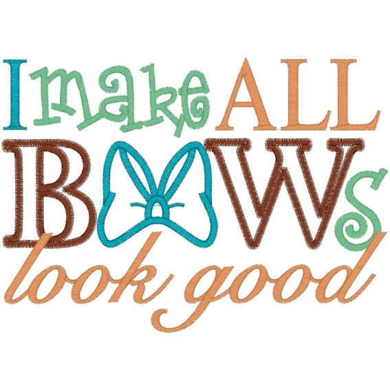Hair bow sayings