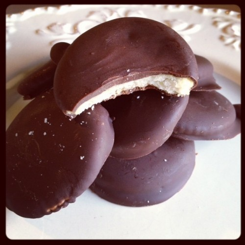 ridiculous homemade thin mints. easiest recipe ever...definitely ...
