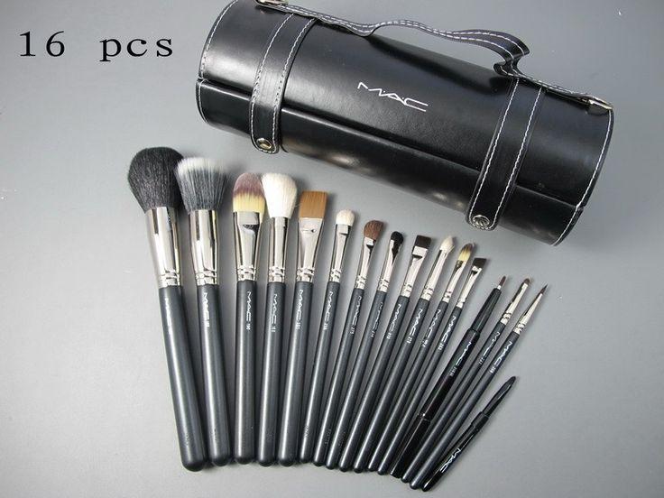 16 pcs mac makeup brush set wishlist pinterest. Black Bedroom Furniture Sets. Home Design Ideas
