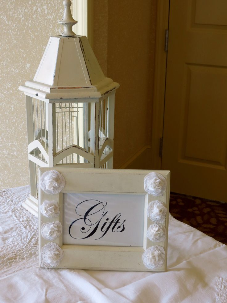 Wedding Gift Table And Birdcage