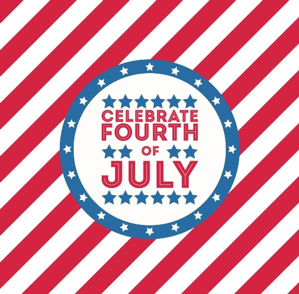 closed for 4th of july clipart