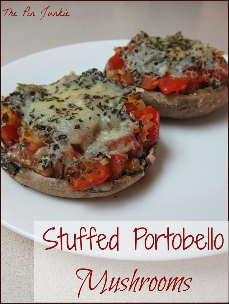 The Pin Junkie: Stuffed Portobello Mushrooms