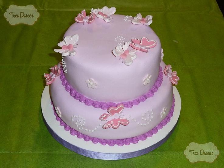 Tortas decorada con mariposas - Imagui