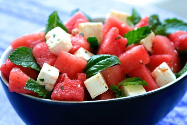 light and refreshing salad of watermelon and... | Food | Pinterest
