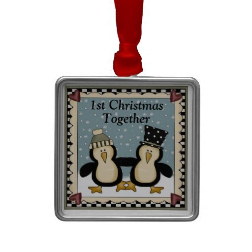 1st christmas together penguin gift ornaments