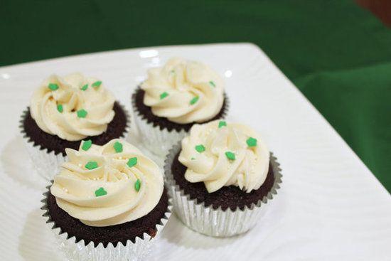 Irish car bomb cupcakes: chocolate stout cake, whiskey ganache filling ...